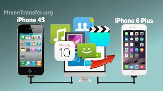 How to Transfer All Data from iPhone 4 to iPhone 6, Sync iPhone 4S Files with iPhone 7/6S Plus