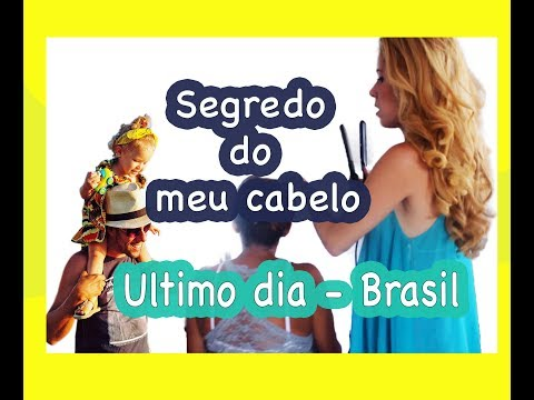 Vlog - Como fazer cachinhos no cabelo / Bye bye Brasil