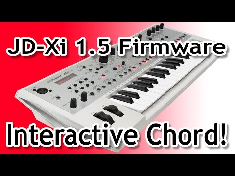 Roland JD-XI interactive chord feature with external gear!