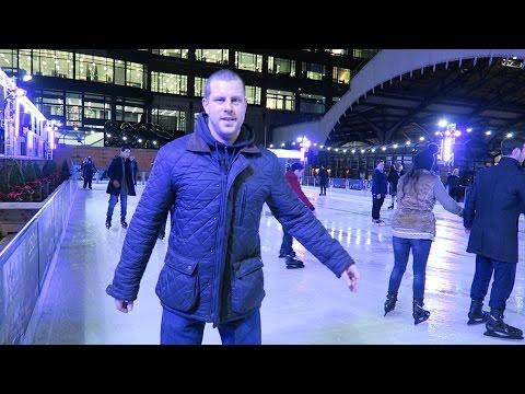 Ice Skating London + Broadgate Circle + Jose Pizarro Restaurant