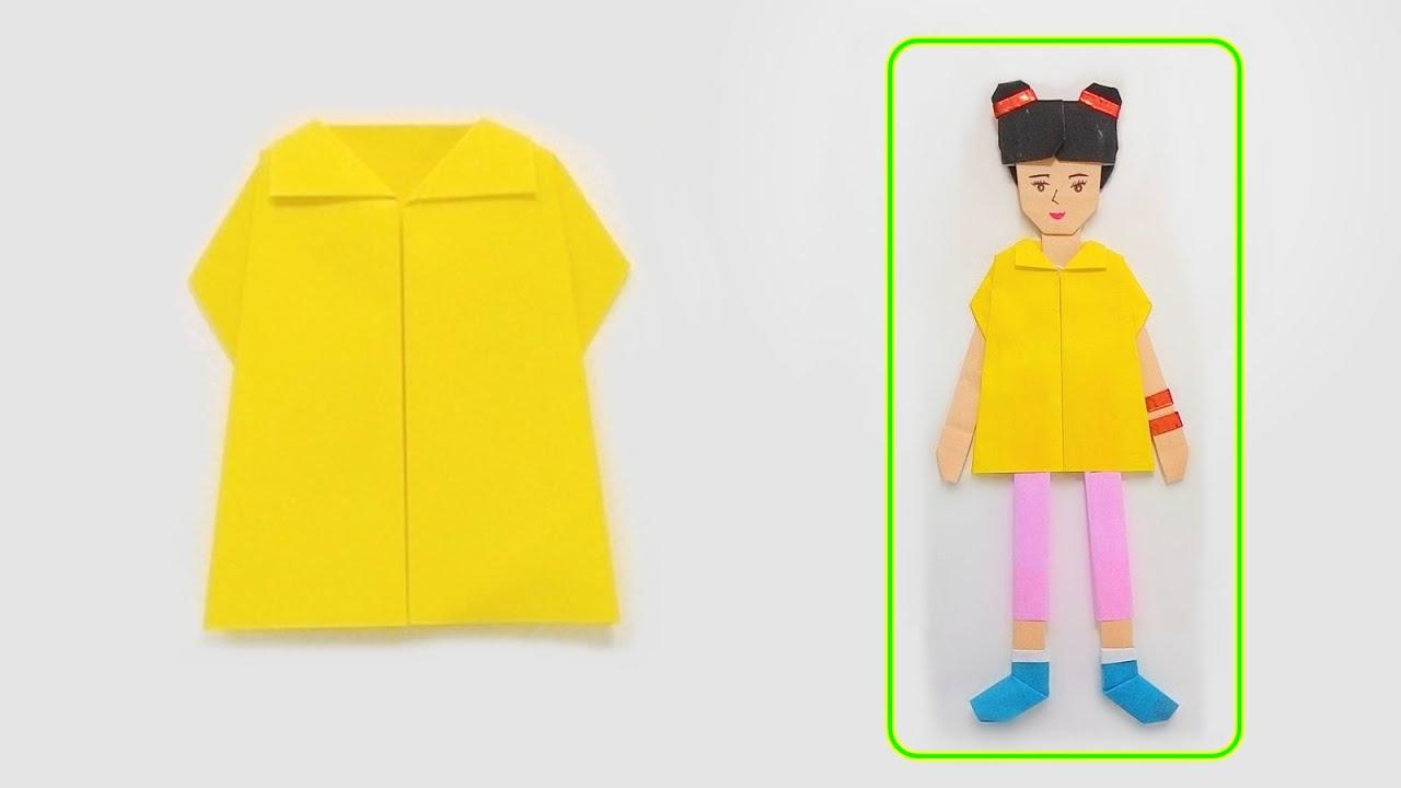 how to make origami evening dress