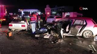 Kazada ölen aynı aileden 3 kişi toprağa verildi