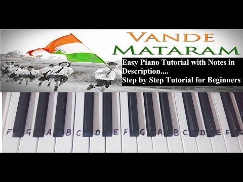 Vande Mataram on Piano|keyboard Tutorial|cover|Deshbhakti|Easy Notes