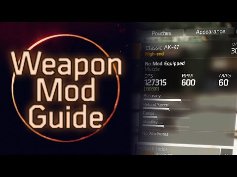 The Division: The Best Weapon Mods and Attachments (Guide)