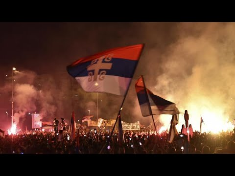 At least 20 injured in Serbian church protest in Montenegro