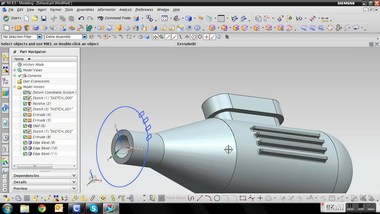 Siemens NX 8 5 - Engine Tutorial - 11 Exhaust
