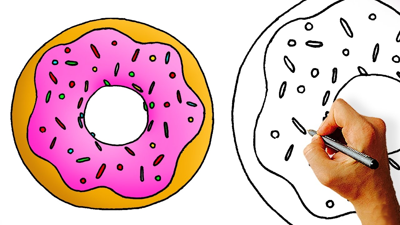 Donut Cartoon Decorated Icon Dessert Sweet Pastry And Bakery Theme Isolated Design Vector