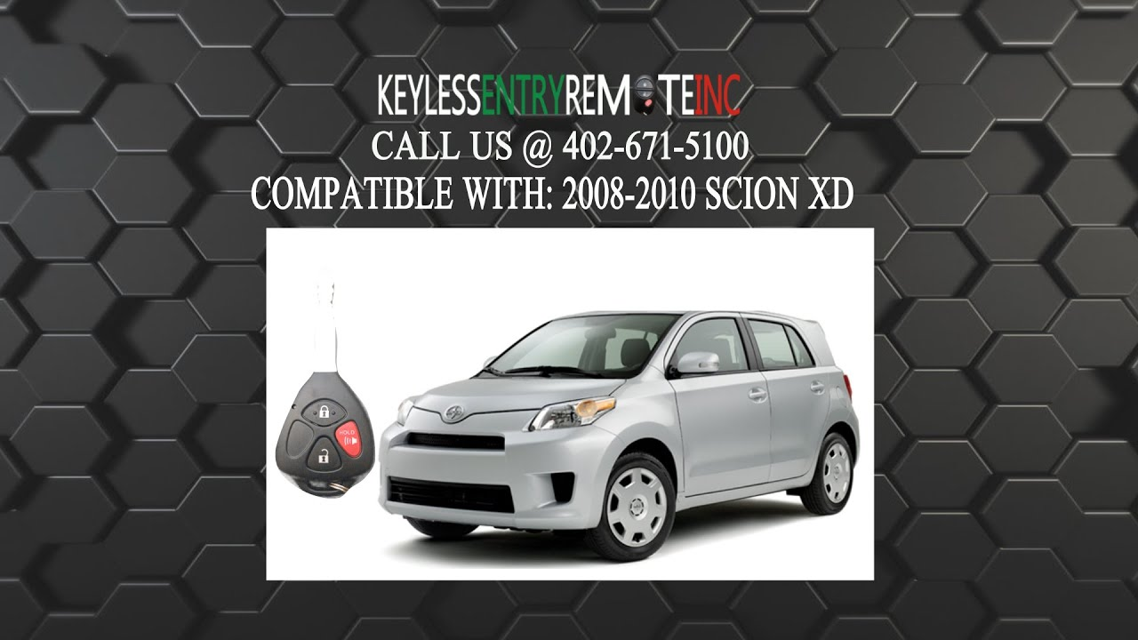 How To Replace Scion Xd Key Fob Battery 2008 2009 2010