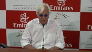 Arrogate Trainer Bob Baffert at the Dubai World Cup Press Conference