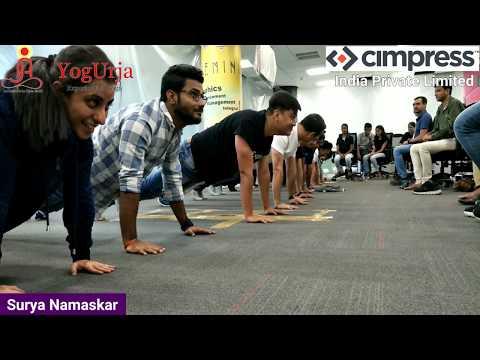 Part - 5 Cimpress India Private Limited Invites YogUrja - Yoga At Work Place