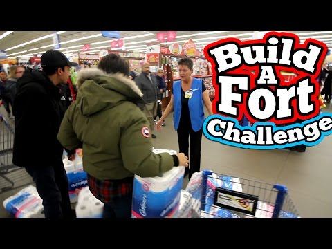 (LMAO) BUILD A FORT CHALLENGE! // CRAZIEST TOILET PAPER FORT CHALLENGE EVER!!