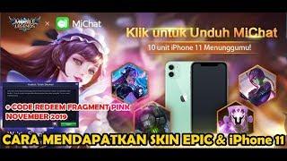 UNDUH MiChat DAPATKAN SKIN EPIC PERMANEN & iPhone 11 Event MLBB x MiChat + Code Redeem November 2019