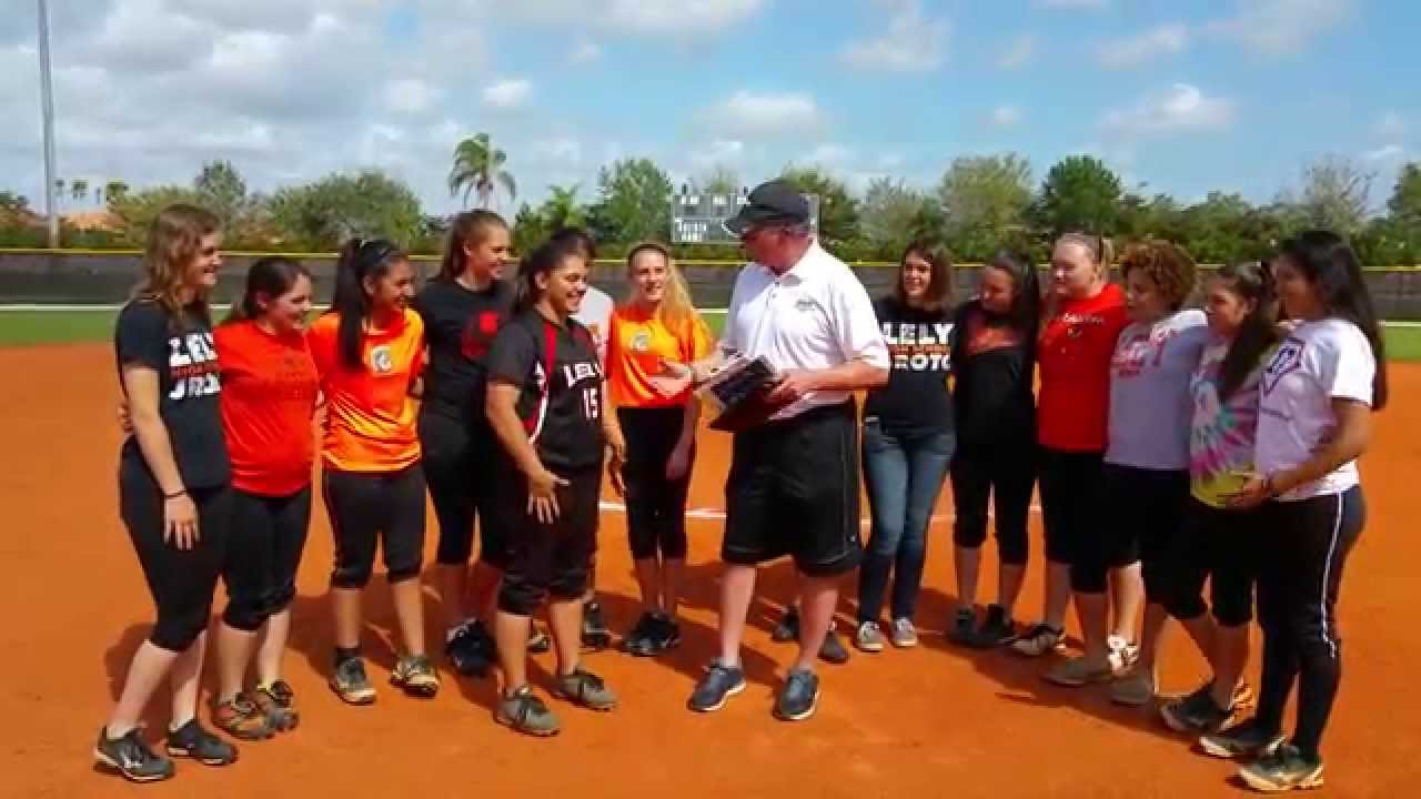 Aly Palacios from Lely High School was awarded top hitter of week 3 in SW  Florida by NSR