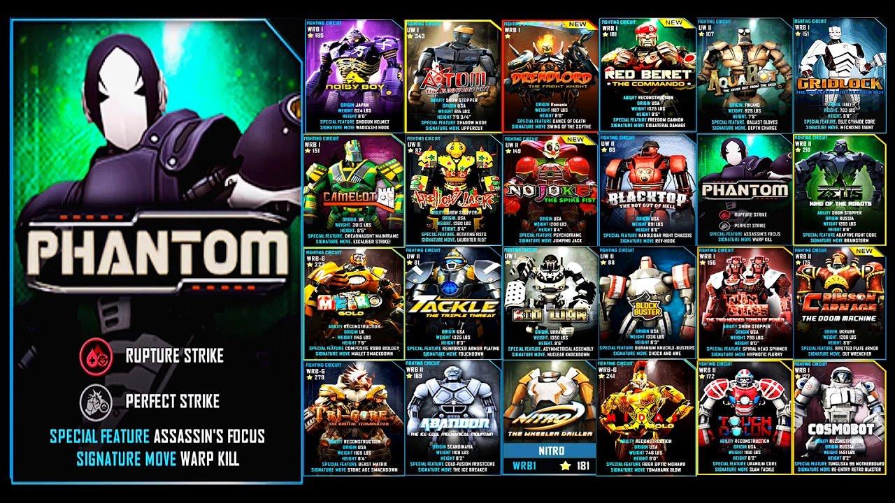 Real Steel WRB PHANTOM Series of fights NEW ROBOT (Живая ...