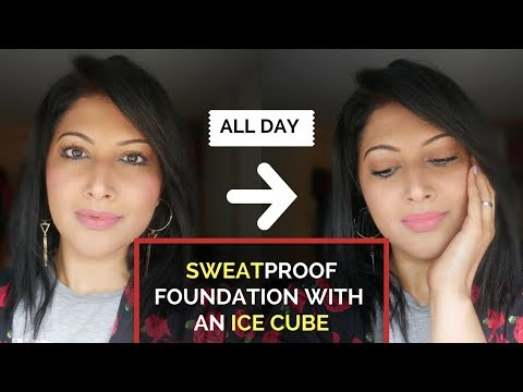 LONG LASTING MAKEUP FOUNDATION HACK FOR OILY SKIN TUTORIAL| ICE CUBE TRICK! SWEAT PROOF MAKEUP !