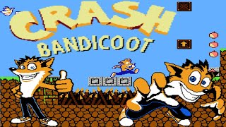 CRASH BANDICOOT (Nice Code Software) (Unl) (NES Pirate) - NES LONGPLAY - (NO DEATH) (FULL GAMEPLAY)