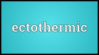 Download lagu Ectothermic Meaning MP3