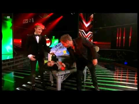JEdward Kissing, Tickling & Sawing Tulisa In Half *Funny*
