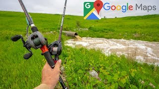 Google Maps Challenge - Fishing Really Flooded Ponds