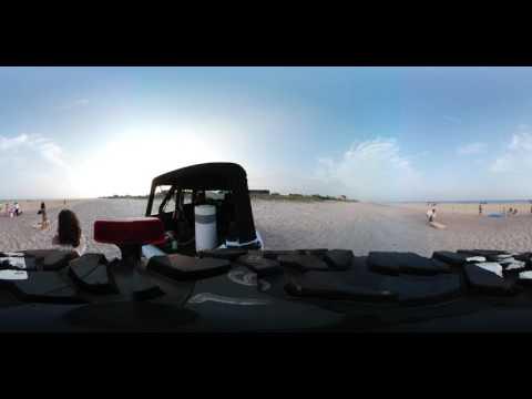 360 virtual reality Hamptons beach party set up