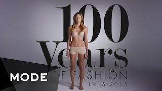100 Years of Fashion in 2 Minutes ★  Mode.com