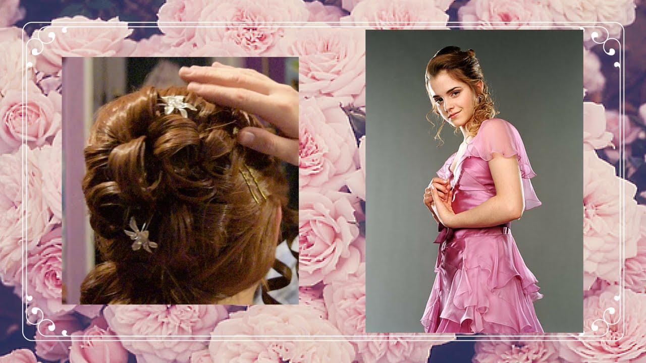 Hermione\'s Yule Ball Wig Tutorial - YouTube
