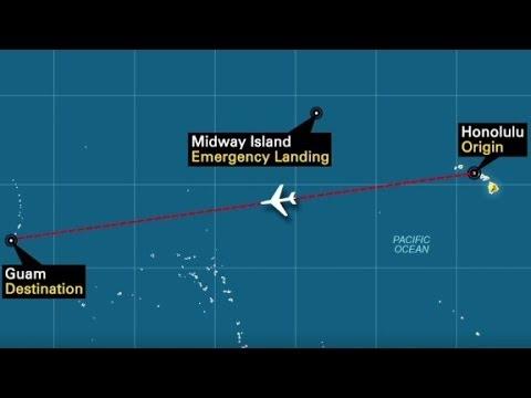Disturbing odor diverts flight to Midway island