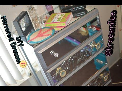 DIY Mirrored Dresser | THRIFT STORE EDITION