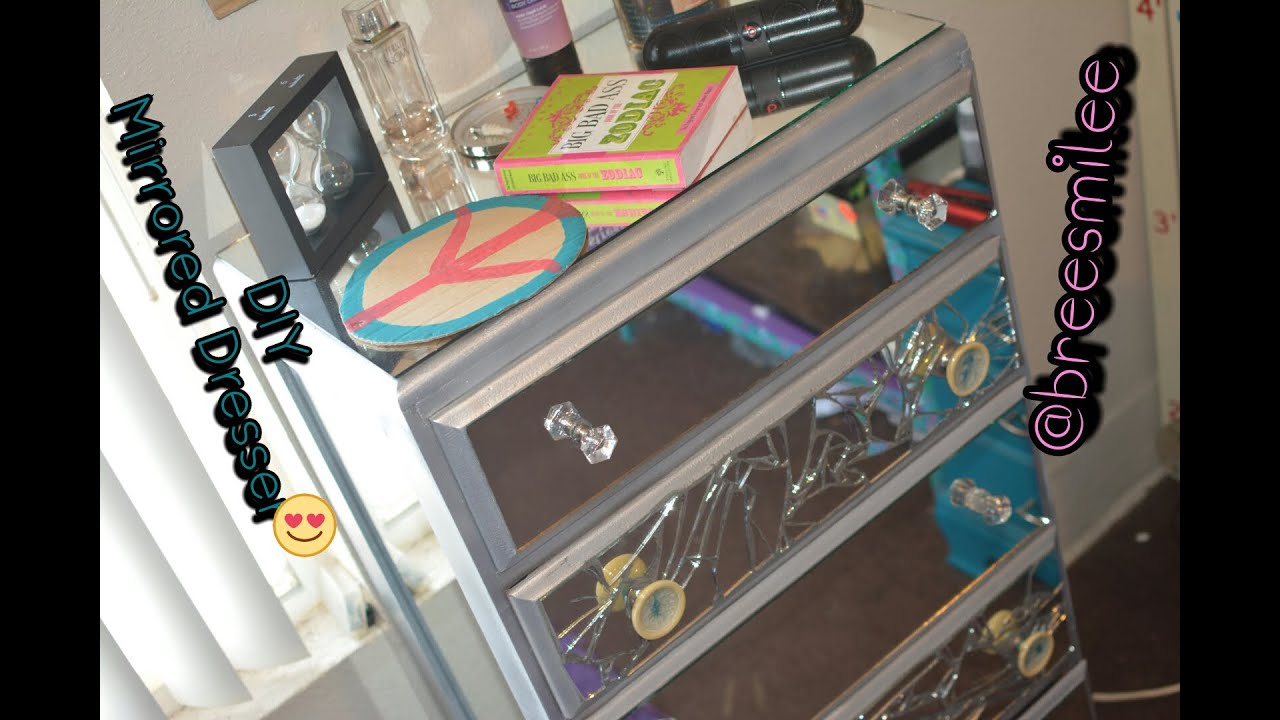Diy mirrored dresser thrift store edition youtube solutioingenieria Image collections
