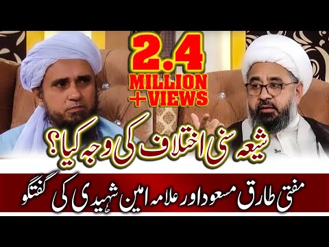 Shia Sunni Ikhtelafat Par Mufti Tariq Masood Aur Allama Ameen Shaheedi Ki Guftugu