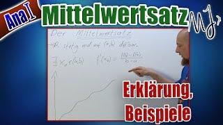 Mittelwertsatz der Differentialrechnung - Erklärung, Beispiele und Anwendung