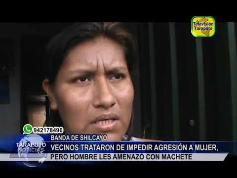 TARAPOTO NOTICIAS: VECINOS TRATARON DE IMPEDIR AGRESIÓN A MUJER, PERO H