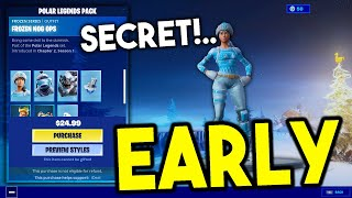 Polar Legends Pack Early Glitch! (HOW TO GET FROZEN NOG OPS PACK EARLY IN FORTNITE)