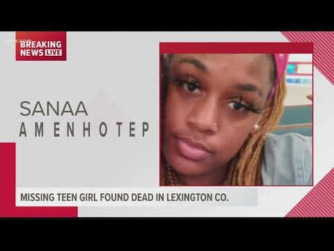 Missing South Carolina teen Sanaa Amenhotep murdered