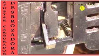 ajustar carburador de la desbrozadora (cortadora de pasto) carburetor adjustment (lawnmower)