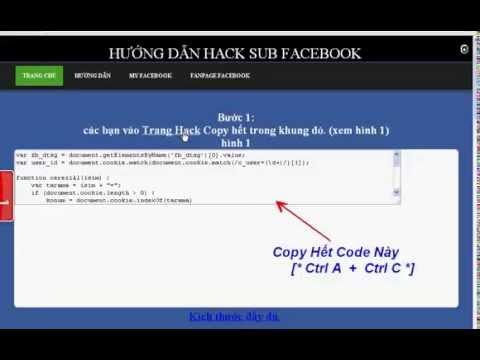 Hack Sub facebook, tăng sub facebook free