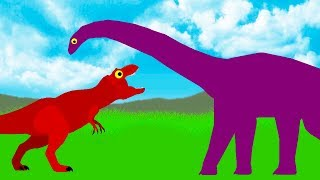 Tyrannosaurus Rex vs Diplodocus | Funny Dinosaurs Cartoons for children | Dinosaurs for Kids 2018