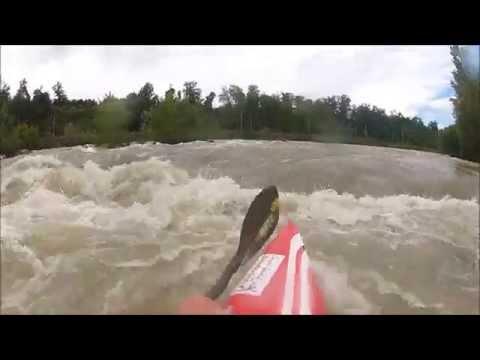 Kayak slalom surf avec Tony Estanguet