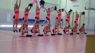 Cheerleading. Чир спорт. Команда Фламинго.