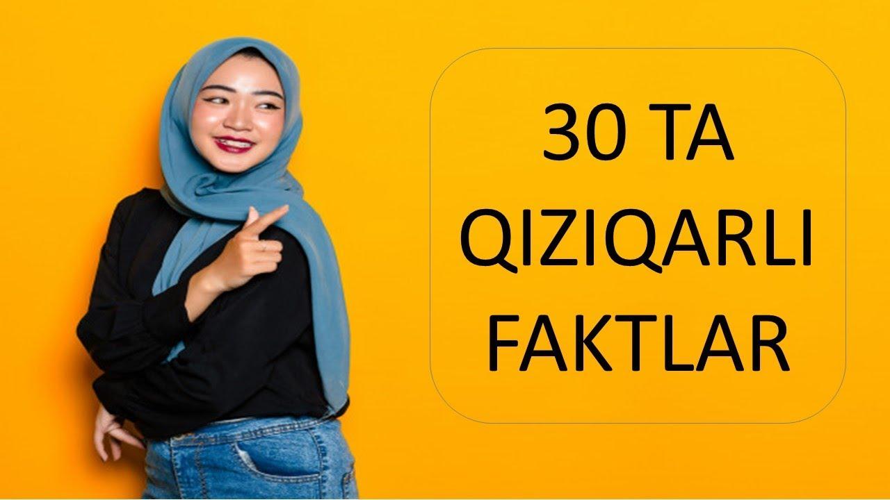 SIZNI HAYRATGA SOLADIGAN 30 TA QIZIQARLI FAKTLAR 2020 онлайн томоша килиш