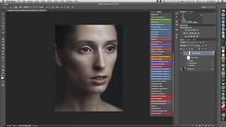Action для Photoshop для имитации текстуры кожи. Skin Texture Action for Photoshop.