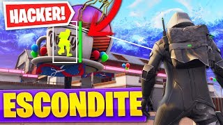 PLAYING THE HIDE WITH A *HACKER* IN DUSTY DINER IN FORTNITE PLAY PATIO - Roier