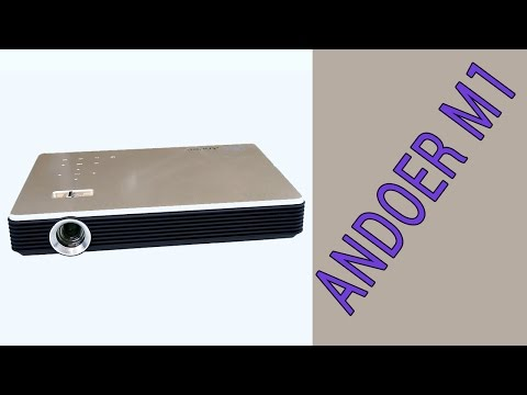 Andoer M1 - the best portable projector with Android we test