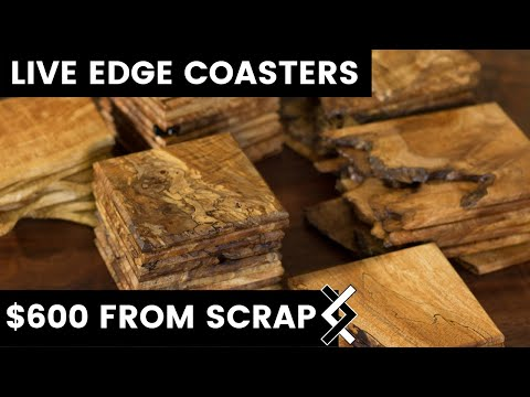 DIY Projects  — Wood Coasters — How To Woodworking