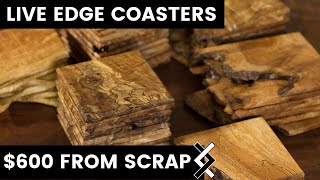 $600 From Scrap Wood  — DIY Wood Coasters — How To Woodworking