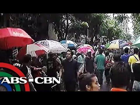 INC protesters leave DOJ, go to EDSA