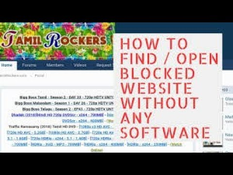 How to open Tamilrockers | 2019 TRICK      | 100% WORKING TRICK | PROZY  SITE unblocking sites |