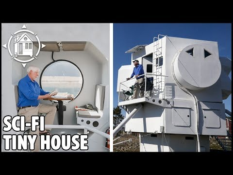 Tiny House or Space Ship? Architect Builds Dream House & it's so Cool!