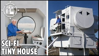 His Dream House! You'll Love this Spaceship Tiny Home