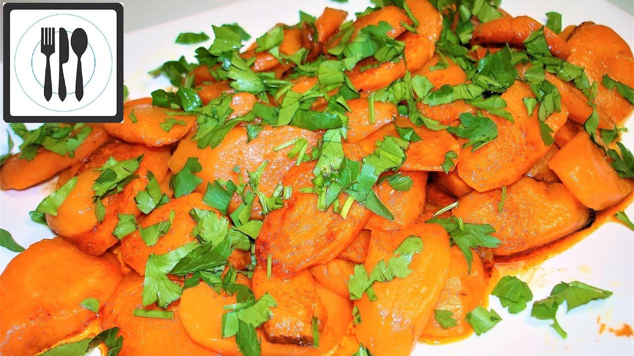 Простой рецепт Моркови на гарнир по-Турецки. ПП рецепт. Закуска из моркови с оливковым маслом.